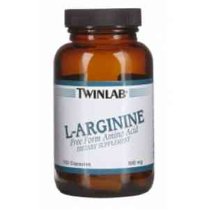 Twinlab L-arginin 500 mg