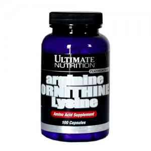 Ultimate Nutrition Arginine Ornithine Lysine, 100 caps