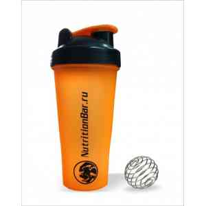Шейкер NutritionBar с венчиком orange