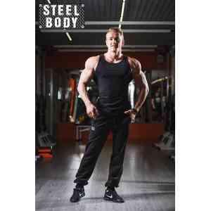 Steel Body Майка черная с широкой спинкой