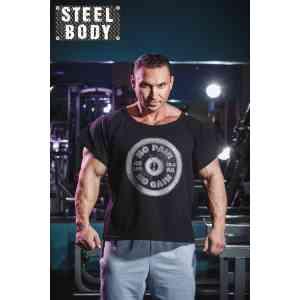 "Steel Body Размахайка черная ""No pain, no gain"""