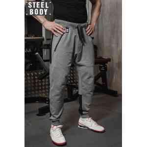 Steel Body Штаны-джогеры серые мужские