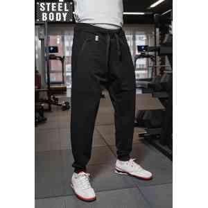 Steel Body Штаны-джогеры черные мужские