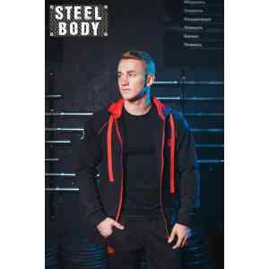 Steel Body Костюм черный с красным кантом