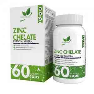 NaturalSupp Zinc Chelate 60 caps.